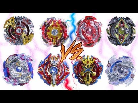 GOD 4 SPIN EMPERORS vs 4 SPIN EMPERORS | Beyblade Burst ベイブレードバースト
