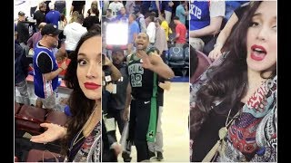Al Horford's wife goes crazy as he wins Game 3 for the Boston Celtics