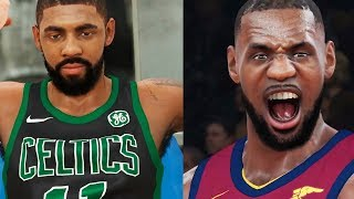 NBA 2K18 Gameplay - LeBron vs. Kyrie GRUDGE MATCH! Cleveland Cavaliers vs. Boston Celtics (PS4 PRO)