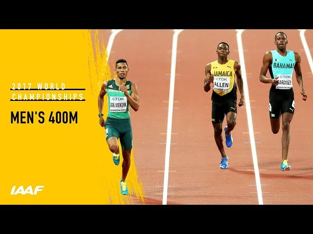 Men's 400m Final | IAAF World Championships London 2017