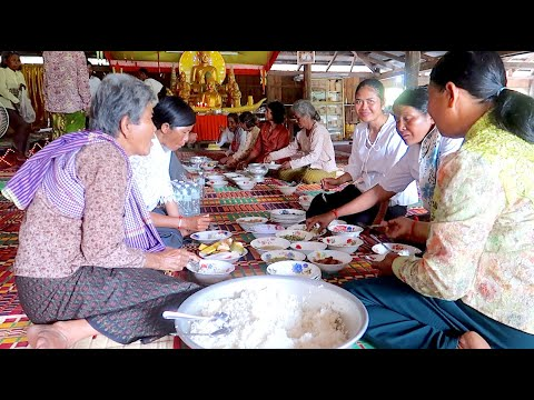 Buffet Lunch On Pchum Ben Day In Cambodia