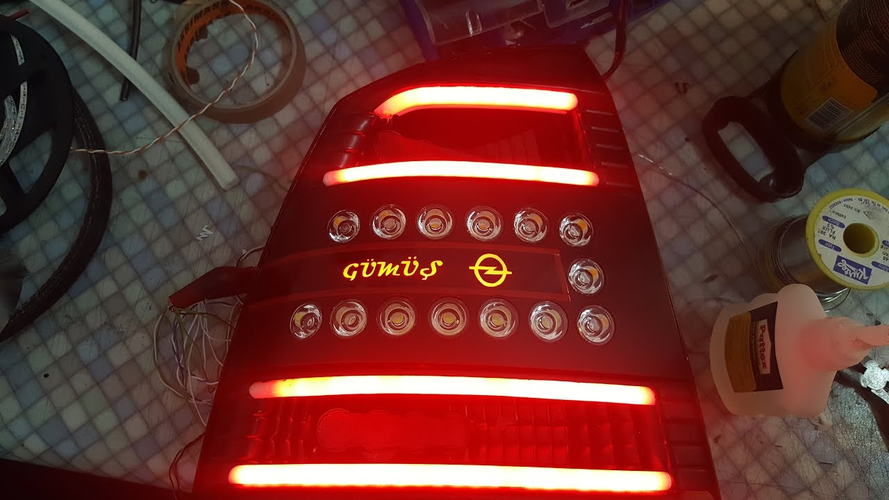 Led Verlichting Astra G Opel Astra G Led Stop Uygulaması Opel Astra G Led Tail Light