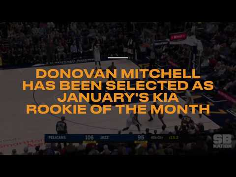 Donovan Mitchell selected as January Rookie of the Month