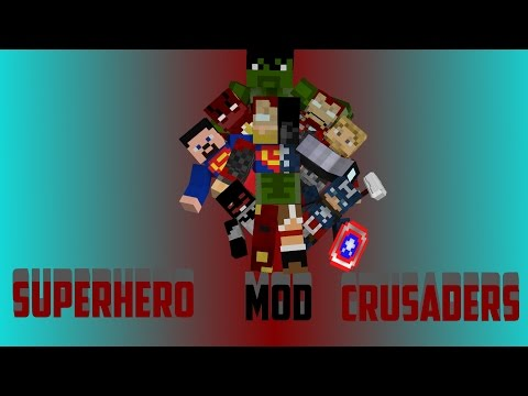 Minecraft Official Superhero Crusaders Mod Update #1 - Superman, Iron Man, Hulk