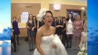Курьез на свадьбе невеста кидает букет 3 раза который поподает одному и то муже мужчине