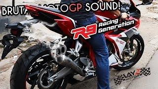 R9 GP Series CBR250RR BRUTAL SOUND! TITANIUM FULL SYSTEM MOTOGP DESIGN!