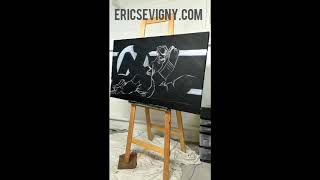 Martin Brodeur Painting Sevigny - NHL Hall of Fame New-Jersey Devils