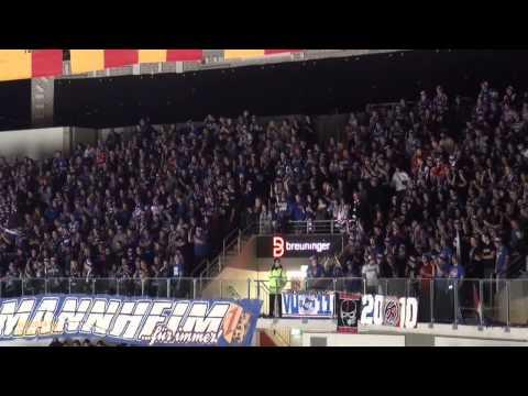 Stimmung Adler Mannheim-Fans im ISS Dome (30.11.2014)