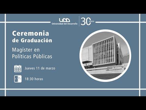 Ceremonia de Graduación Magíster en Políticas Públicas