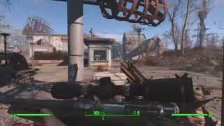 Fallout 4 - Sniper Pistol Stealth Gameplay on Survival