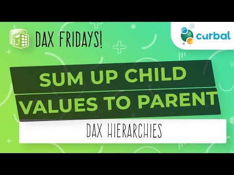 DAX Fridays! #91: Sum child values into the parent - YouTube