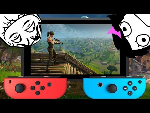 2 Players 1 Nintendo Switch Controller Challenge On Fortnite With Victory Royale Fortnite Gameplay?
