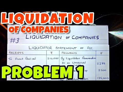 #3 Liquidation of Companies - Problem 1 -By Saheb Academy - B.COM / BBA / CA INTER