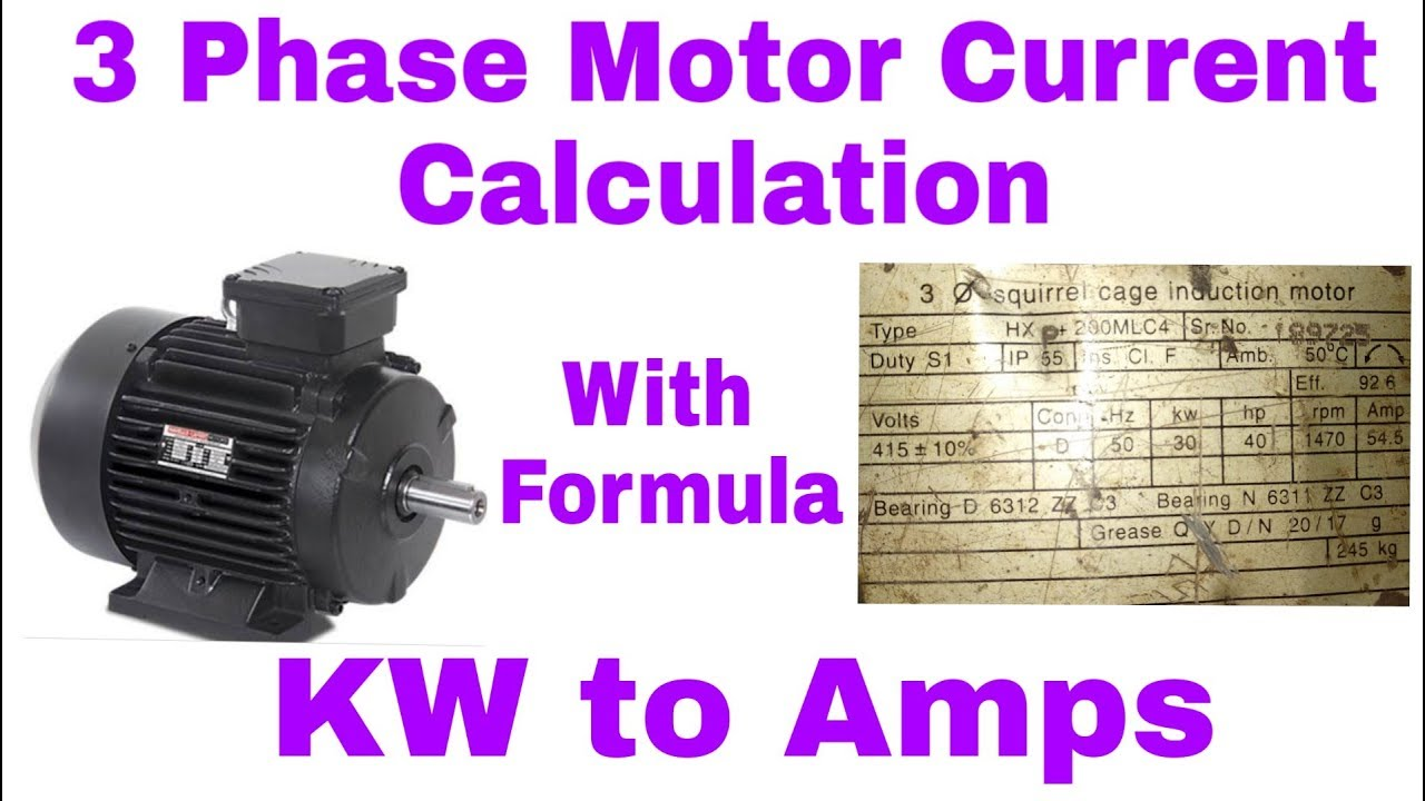 How To Calculate 3 Phase Motor Full Load Current In Hindi