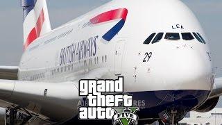GTA 5 British Airways A380 full flight