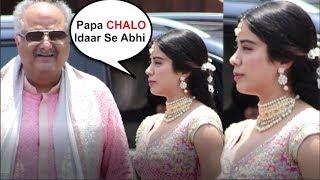 Jhanvi Kapoor LEAVES Sonam Kapoor's Wedding In Middle After Missing Mom Sridevi