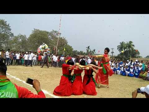Dance of Ashraf Jute Mills Ideal School on sports day, 2017