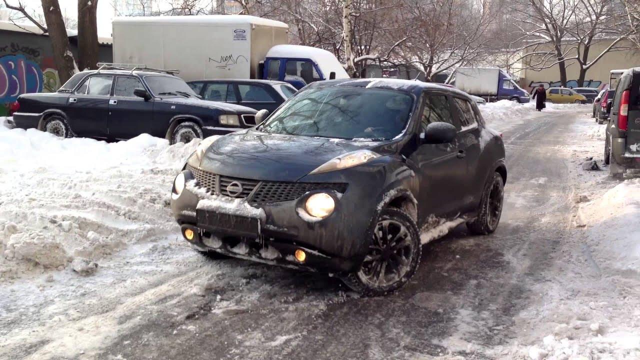 nissan juke 4wd. off road in snow video. - youtube