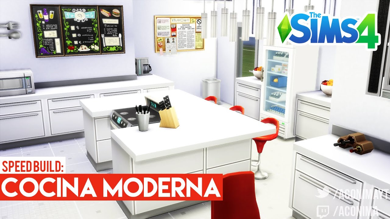 Sims 4 speed build cocina moderna modern kitchen for Muebles sims 3
