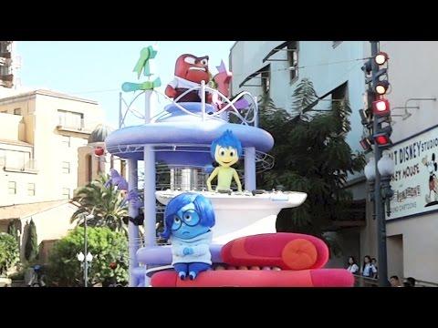 Disney Pixar's Inside Out Pre-Parade Float at Disney California Adventure, w/Joy, Sadness, Anger,