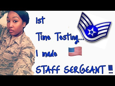 First time testing.. I made STAFF SERGEANT!!!!