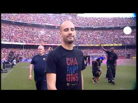 100 000 personnes au Camp Nou pour fêter le FC Barcelone