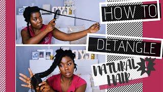 Natural Hair | How to detangle Natural Hair | Obaa Yaa Jones