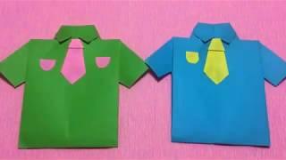 How to make dress tutorial DIY - paper dresser shirt for kids