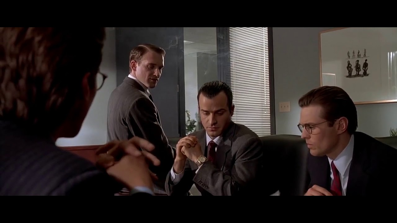 American Psycho | Business Card Scene - YouTube