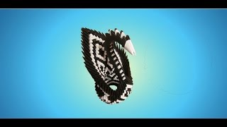 3d Origami Black And White Swan Tutorial