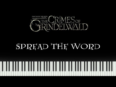 Fantastic Beasts 2 - Spread The Word (Synthesia Piano)