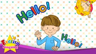 Скачать Hello Character Introduction Kids English Song Sing A Song