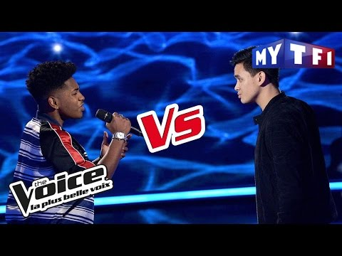Lisandro Cuxi VS Angelo Powers - « Runnin' » (Beyoncé ft. N. Boy) | The Voice France 2017 | Battle