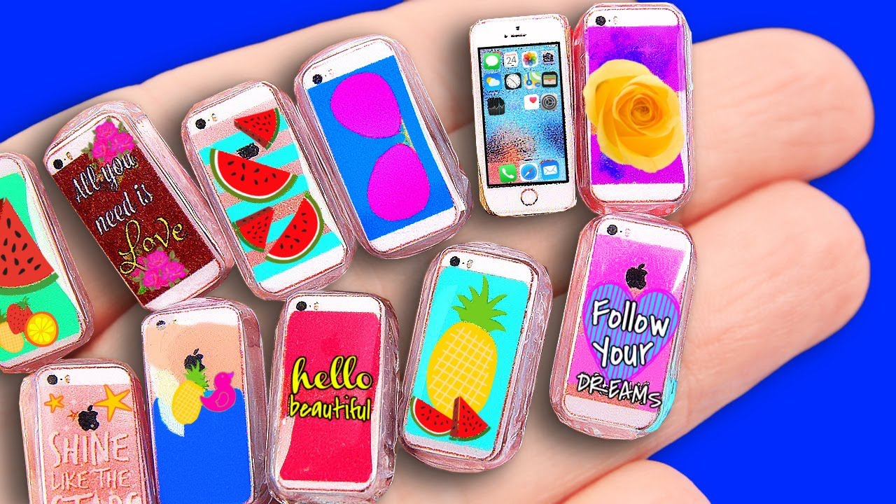 Diy Miniature Phone Cases Iphone Youtube