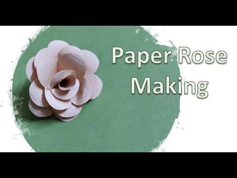DIY: How to make Paper Rose / Flower | Paper craft #paperfolding #kidscraft