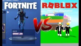 ! Dances De Fortnite Vs Roblox 3 Part!