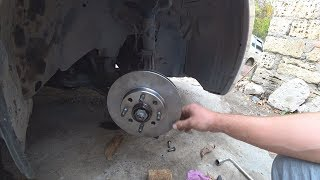 замена тормозных дисков с маленьким лайфхаком совет