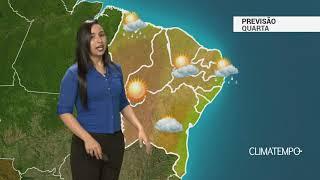 Previsão Nordeste – Chuva fraca no litoral
