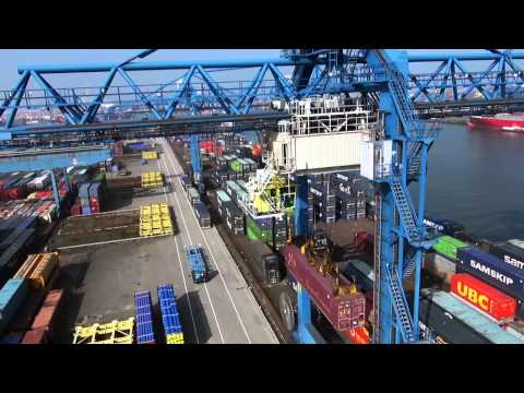 Port of Rotterdam Rotterdam Short Sea Terminals Waalhaven.mp4