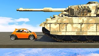 SMALLEST CAR vs. BIGGEST TANK! - GTA 5 Funny Moments