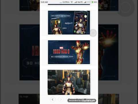 How to download ironman 3 live wallpaper 3d for free