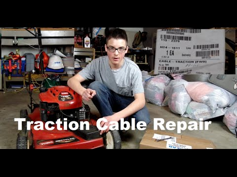 Fwd Toro Recycler Traction Cable Repair