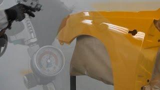 Окраска автомобильного крыла материалами Reoflex - акриловая эмаль (плавный переход)