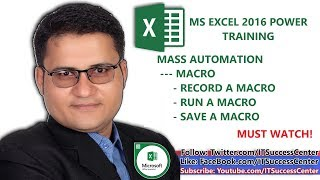 Learn Excel in Urdu - Mass Automation - How to Use Macro in MS Excel 2016