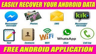 BEST ANDROID APPLICATION FOR DATA RECOVERY || RECOVER FB MESSENGER
