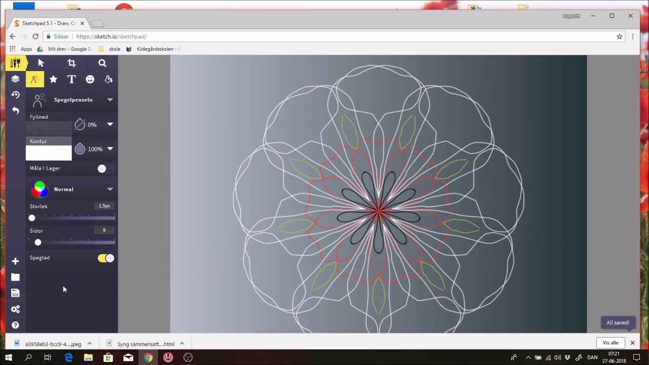 Hvordan tegner man  Mandala på computer med Skrappe fru Larsen