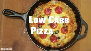 Behold! The ULTIMATE Low Carb Pizza Recipe
