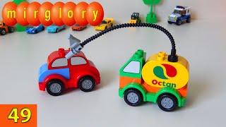 Машинки мультфильм - Трансформеры Lego - Город машинок - 49 серия. Развивающие мультики mirglory