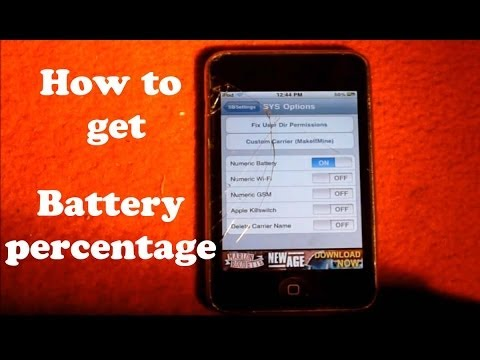 How to get battery percentage on iphone 1G, 2G, 3G, 4G (WORKS 100% LEGIT