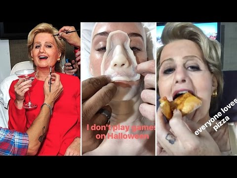 Katy Perry Gets Prosthetic Hillary Clinton Costume For Halloween | Full Video